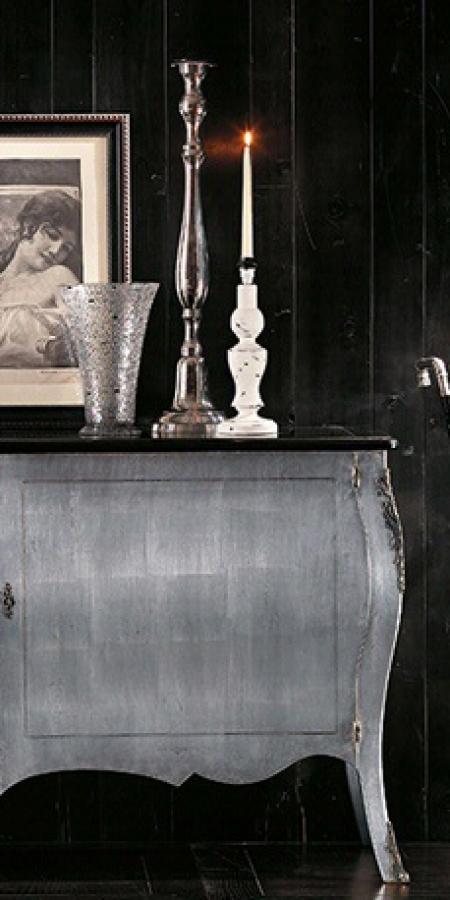 Креденс Art.CO.29 срібло, чорний верх