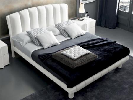 Кровать Armonia 180x200 frassino, экокожа, белая