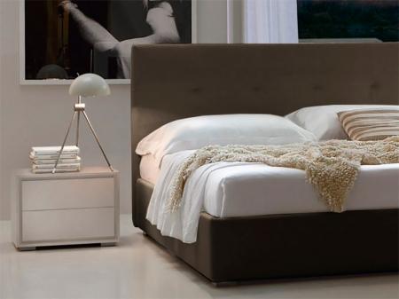 Ліжко Dedalo 180x195 з контейнером, темно-коричнева екошкіра