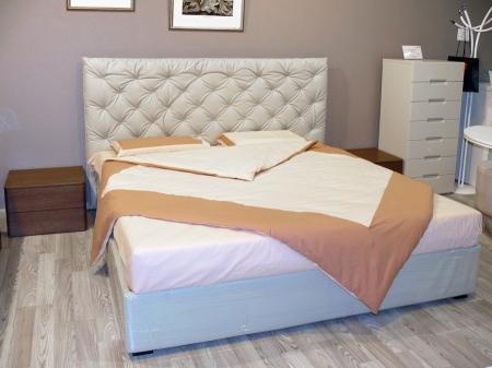Кровать Ninfa Maxi 180x195 экокожа Tortora, с подъемным механизмом