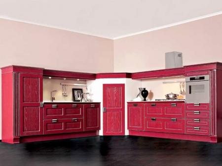 Кухня угловая 2585x2100, Imperial 170 GLAMOUR, лакированный ясень
