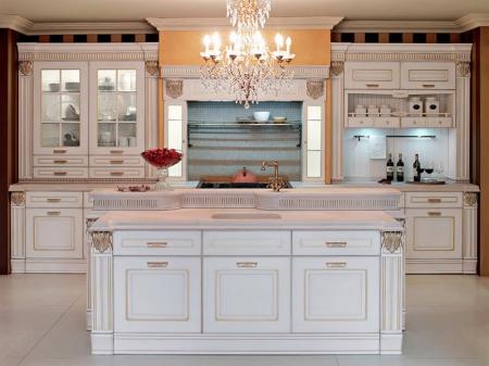 Кухня угловая 2585x2100, Imperial 103 EMOTION, MDF, oroargento