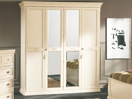 Шкаф Venere avorio, четырехдверный, 2 зеркала