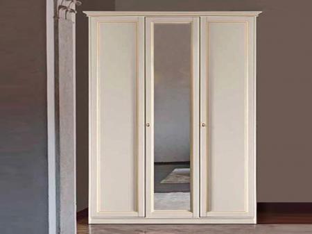 Шкаф Aurora avorio, трехдверный, 1 зеркало, высокий
