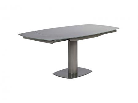 Стол раскладной Flores 120/180, fango, стекло