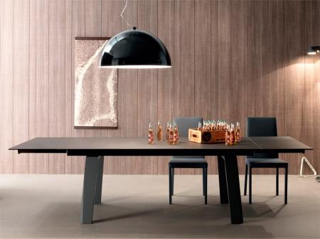 Стол раскладной FRAU Ceramic 200 + 50 + 50, темно-серый
