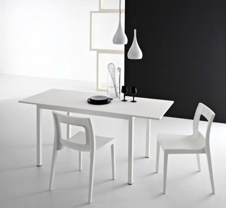 Стол раскладной LIGHT, 130 + 50, меламин Rovere Grigio 85