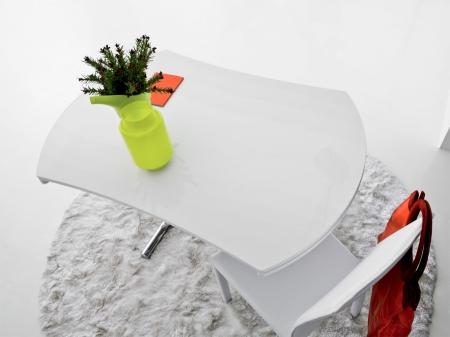 Стол трансформер Simple round белый матовый