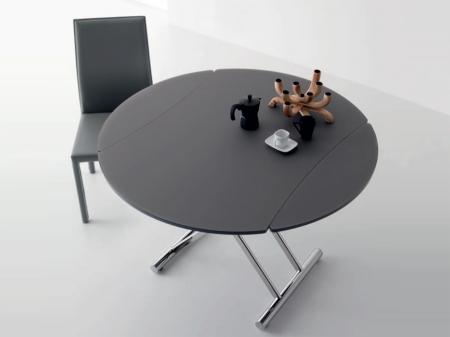 Стол трансформер Simple round темно-серый