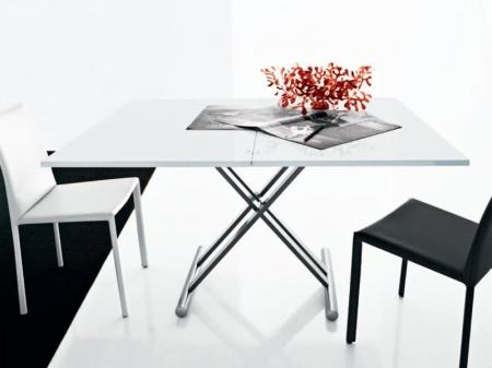 Стол трансформер Simple прямоугольный  белый глянец
