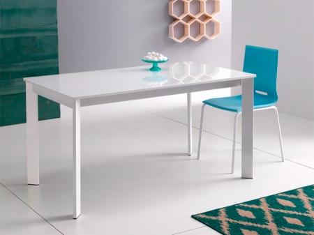 Стол раскладной Zen Plus 120 + 40, bianco, ламинат bianco pietra