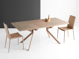 Стол раскладной GIOVE 130 +50, керамика lead grey
