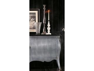 Креденс Art.CO.29 серебро, черный верх