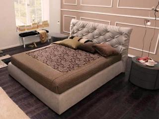 Кровать Collin 160x200 outlet, ткань diva 207, с подъемным механизмом