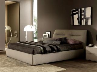 Ліжко Moon 180x200, тканина smart grigio chiaro 304, з підйомним механізмом