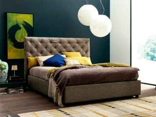 Кровать Ninfa Maxi 180x200 экокожа Vintage Taupe, с подъемным механизмом