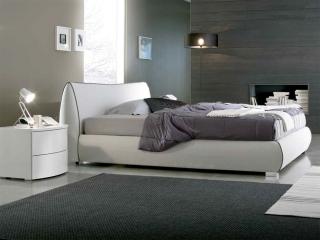 Кровать Chantal 180x200 экокожа белая, с подъемным механизмом