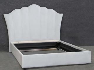Ліжко 160x200, біле, вельвет