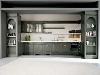Кухня угловая 2585x2100, Imperial 109 CHARME, декарпированный ясень, oroargento