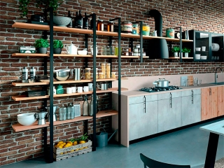 Кухня линейная 2700, LAB13