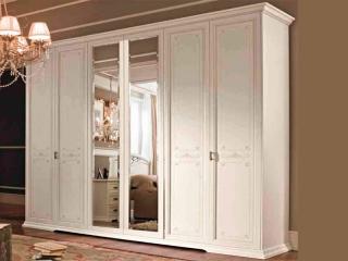 Шкаф Afrodita avorio, шестидверный, 2 зеркала