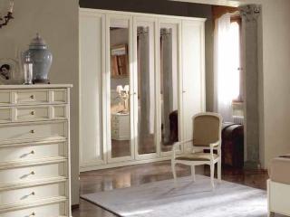 Шкаф Aurora avorio, пятидверный, 3 зеркала, высокий