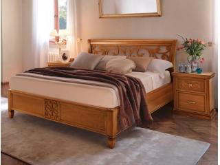 Спальний гарнітур Ginevra горіх: ліжко, 2 тумбочки, туалетний столик, дзеркало, шафа