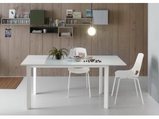 Стол раскладной EGO, 140 + 40, меламин Rovere Grigio 85