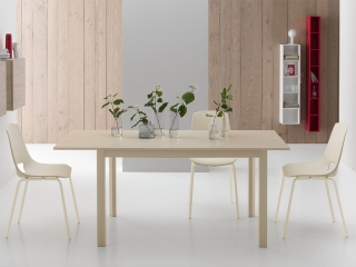 Стол раскладной FLY, 130 + 50, меламин Larice Bianco 8A