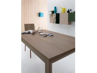 Стол раскладной FLY, 130 + 50, меламин Rovere Grigio 85