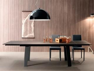 Стол раскладной FRAU Ceramic 200 + 50 + 50, коричнево-серый