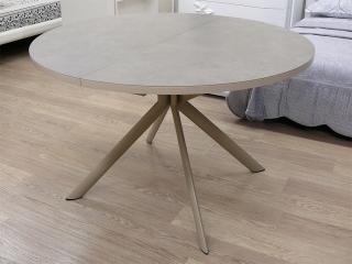 Стіл розкладний GIOVE 120 +45, кераміка nougat