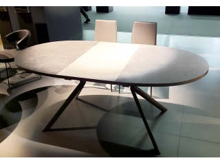 Стол раскладной GIOVE 120 +45, меламин white, matt optic white