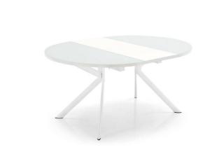 Стол раскладной GIOVE OVALE 140 +50, стекло матовый белый, matt optic white