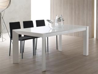 Стол раскладной WOOD 140 + 40 + 40, стекло Avorio 69