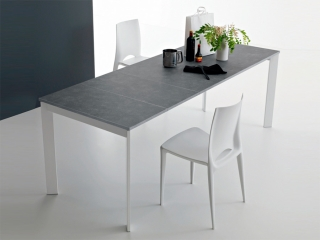 Стол раскладной Zen Plus 120 + 40, grigio grafite, ламинат beton
