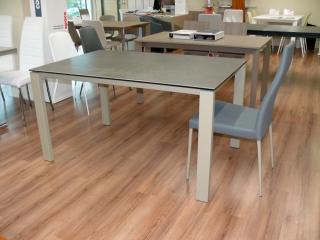 Стол раскладной BADU 120 +50, стеклокерамика Piombo VC4