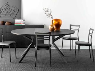 Стіл розкладний GIOVE 120 +45, кераміка lead grey