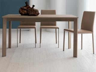 Стол раскладной Zen Plus 120 + 40, tortora, ламинат PORFIDO TABACCO