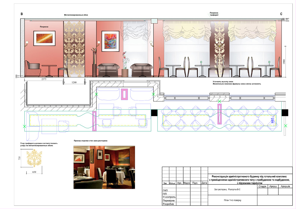 Техническое задание на дизайн проект кафе