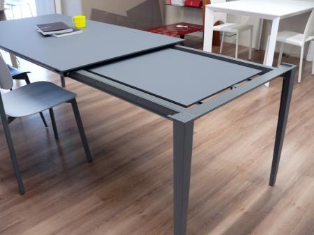 Стол раскладной Fusion, 160 + 60, FENIX серый