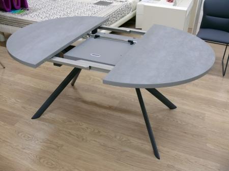 Стол раскладной GIOVE 120 +45, керамика cement