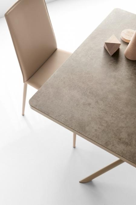 Стол раскладной GIOVE 130 +50, керамика nougat