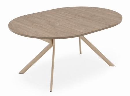 Стол раскладной GIOVE 120 +45, меламин deco nougat, matt nougat
