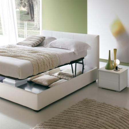 Кровать Dedalo экокожа / ткань