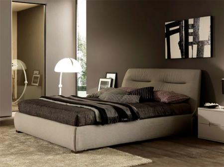 Кровать Moon 180x200, ткань smart grigio medio 303, с подъемным механизмом