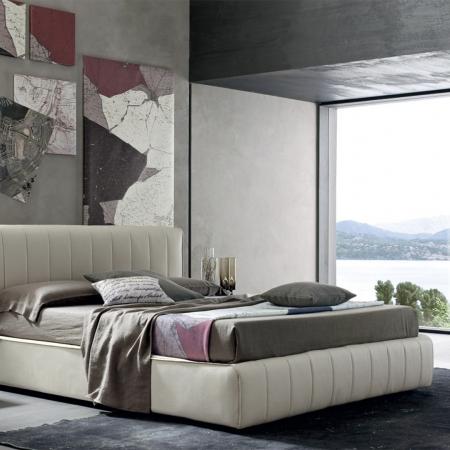 Ліжко Oliver екошкіра / тканина