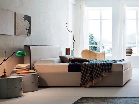 Кровать River экокожа / ткань