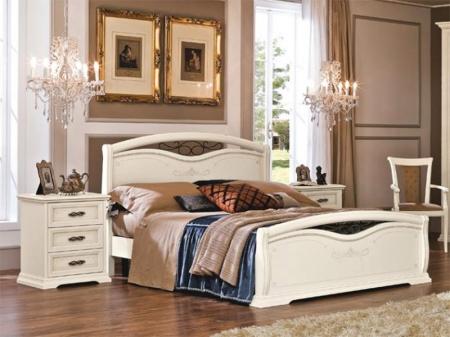 Кровать Afrodita 140x190 avorio, с изножьем