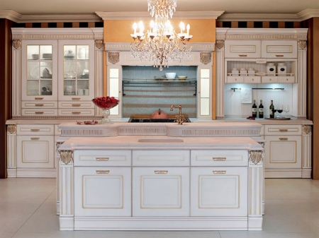 Кухня угловая 2585x2100, Imperial 104 EMOTION GLAMOUR, MDF, oroargento